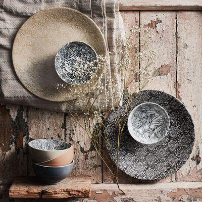 Gamme de vaisselle en grès décoré-AMANDE