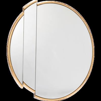 Miroir en métal doré D50cm-ARUM