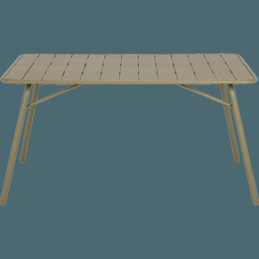 Table de jardin pliante en acier vert olivier (4 à 6 places ...