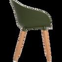 Fauteuil de jardin en eucalyptus vert kaki-ANTIBES