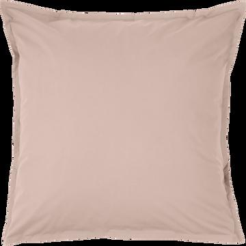 Lot de 2 taies d'oreiller en percale de coton Rose argile 65x65cm-FLORE