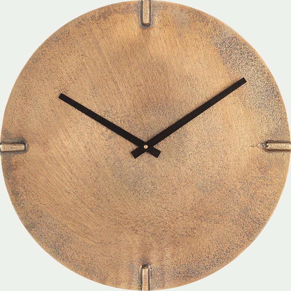 Horloge murale en aluminium - cuivré D38cm-SALINE