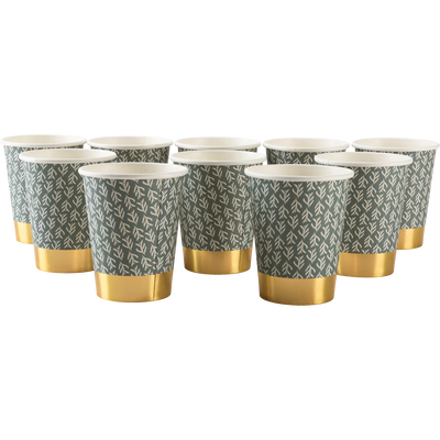Lot de 10 verres en carton motifs cyprès 25cl-SAZE