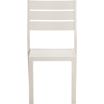 Chaise empilable en aluminium gris borie-ALEP