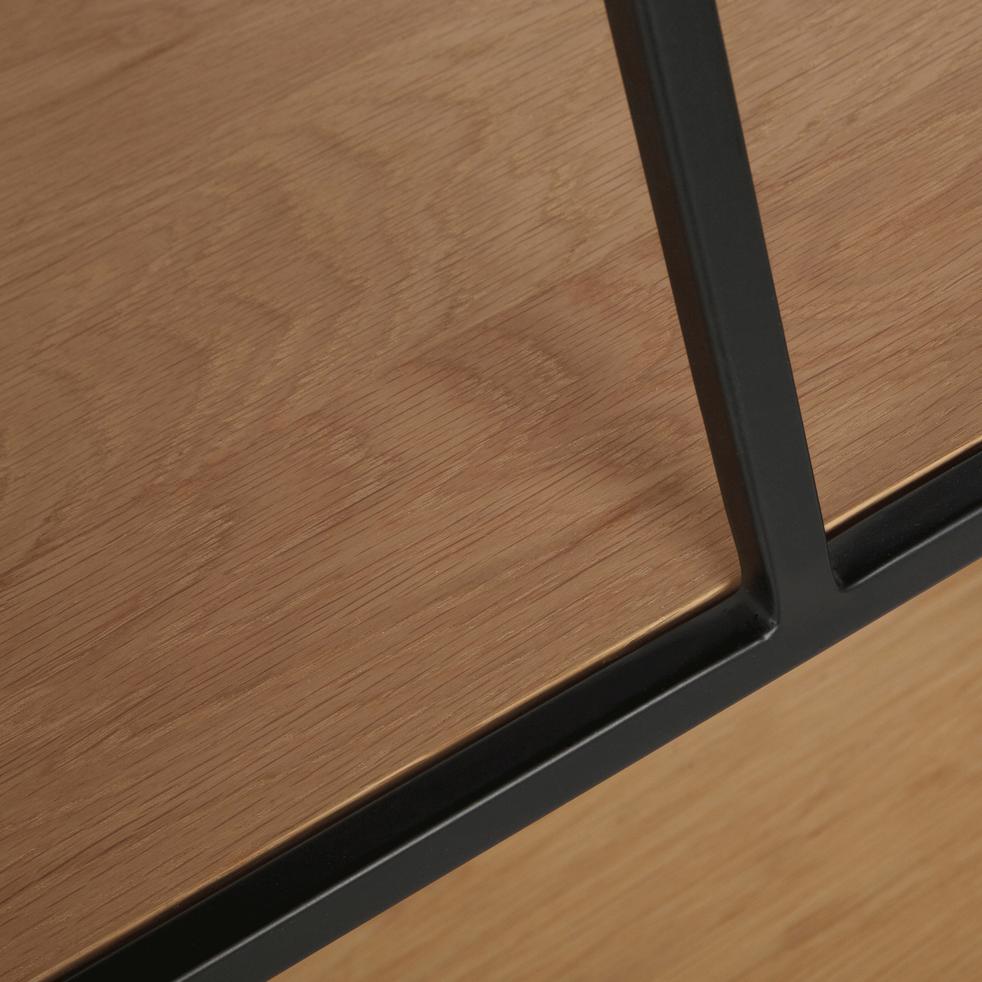 Étagère escalier en acier et placage chêne-CESARINE