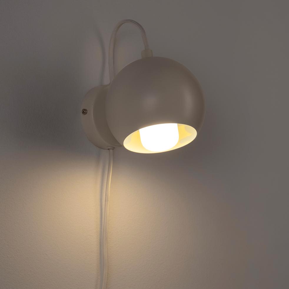 Applique en métal blanc D12cm-BALL