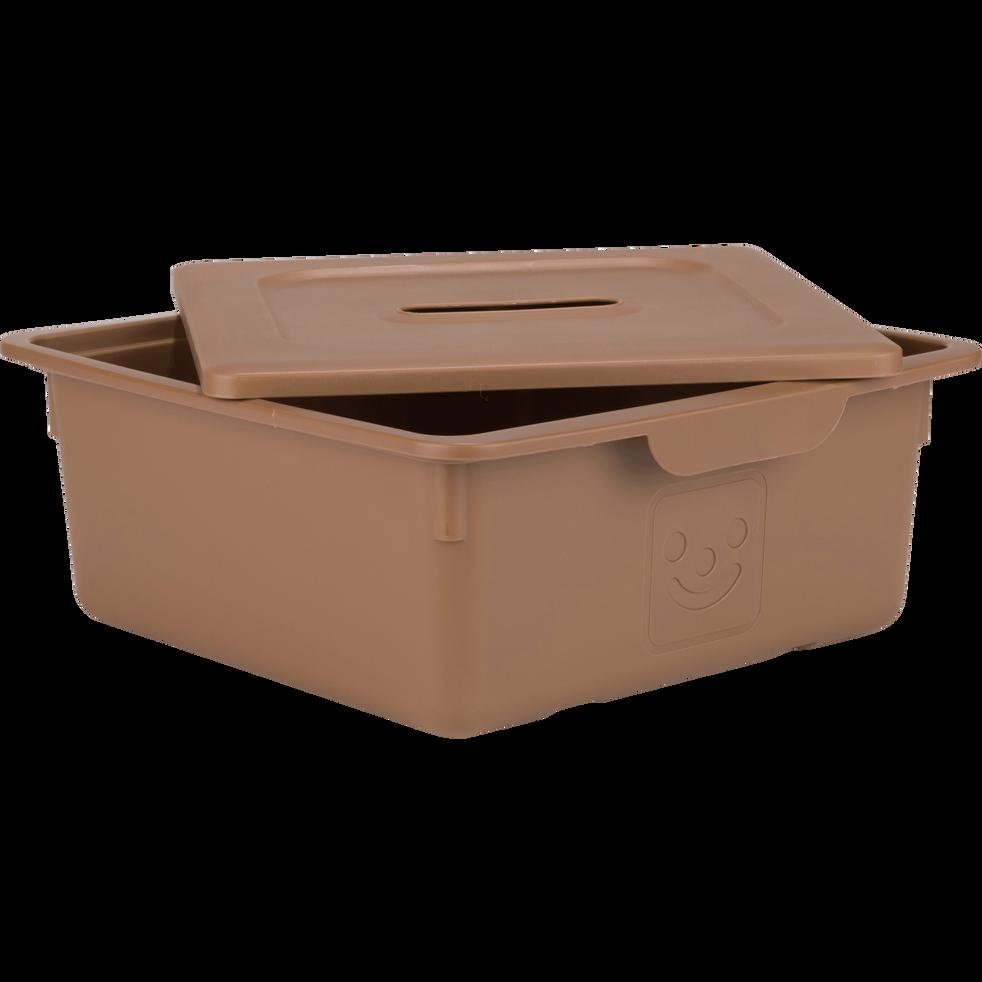 Tiroir de rangement 10L brun albe-ZACCHARIE