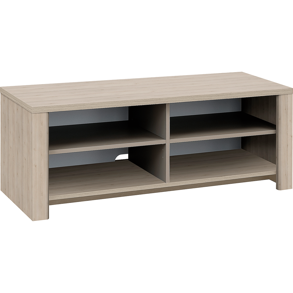 meuble tv 4 cases coloris bois blanchi sha pin meubles tv alinea. Black Bedroom Furniture Sets. Home Design Ideas
