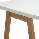 Bureau avec piétement en bois massif blanc L150cm-OSLO