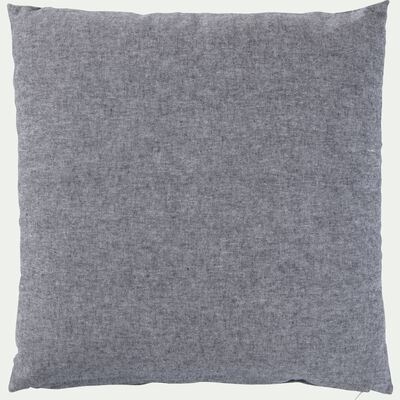 Coussin chambray gris restanque 40x40cm-CORBIERE