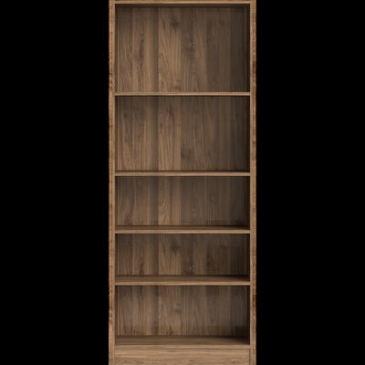 Grande bibliothèque 5 tablettes coloris noyer L79cm-BIALA