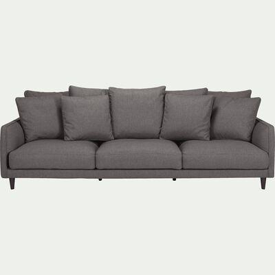 Canapé 6 places fixe en tissu gris borie-LENITA
