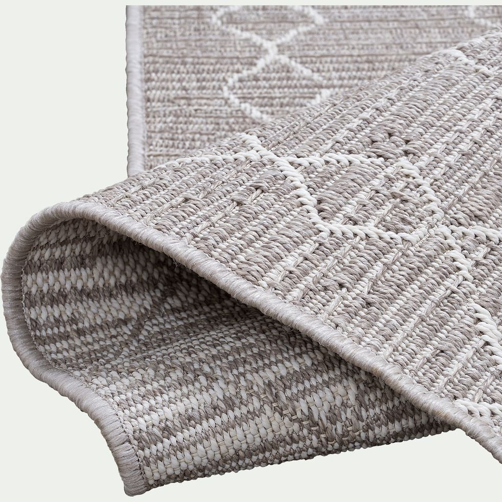 Tapis intérieur et extérieur inspiration berbère - gris 120x170cm-latin