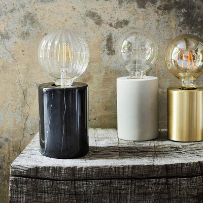 Lampe à poser en béton blanc H12,5xD9cm-PRAO