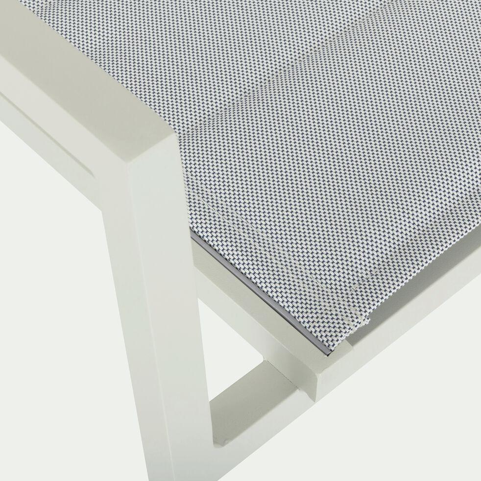Chaise de jardin empilable en aluminium blanc-LORETO