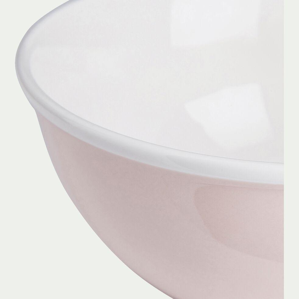 Bol en porcelaine - rose D16cm 75cl-CAFI