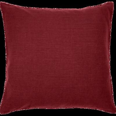 Coussin en lin lavé rouge sumac 45x45cm-VENCE