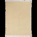 Tapis en coton beige roucas 150x200cm-PALMA