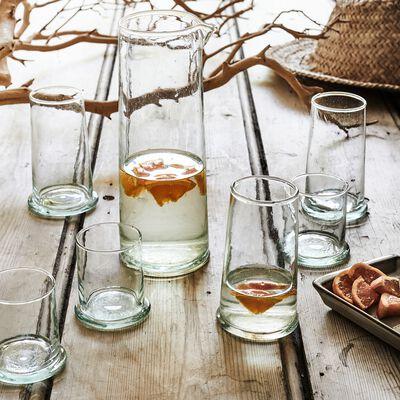 Service de verres en verre recyclé