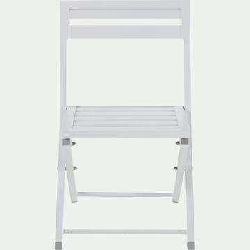 Chaise de jardin pliante blanche en aluminium-BLANCO