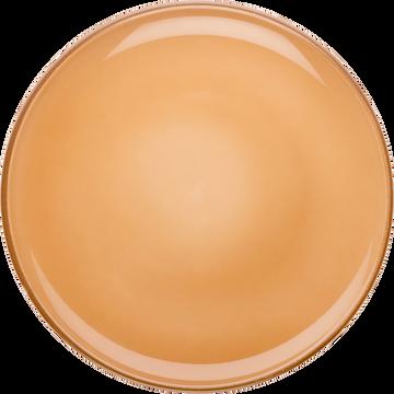 Assiette à dessert en faïence orange D20cm-LANKA