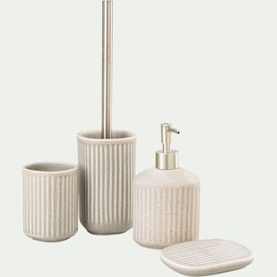 Distributeur de savon en céramique mouchetée - beige alpilles-NANS