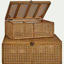Malle en bois de pin - naturel L37xl25xH14,5cm-Lior