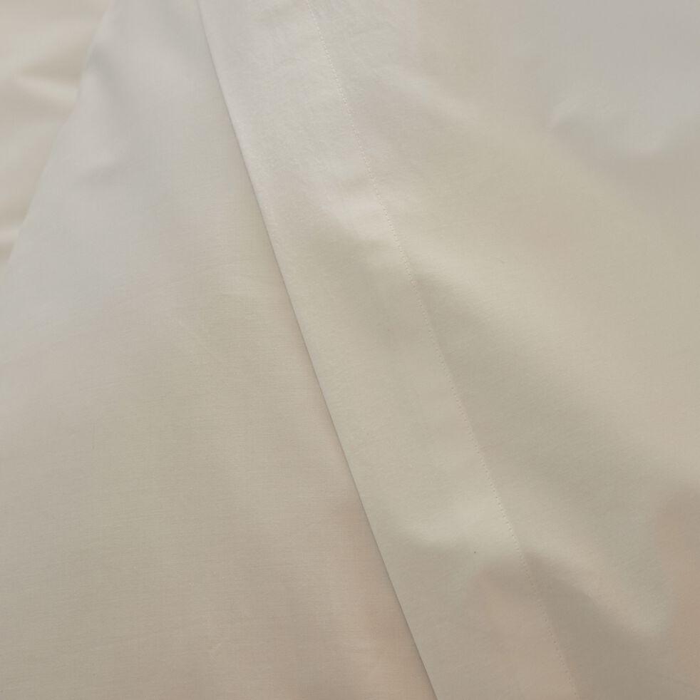 Linge de lit en percale blanc ventoux-FLORE