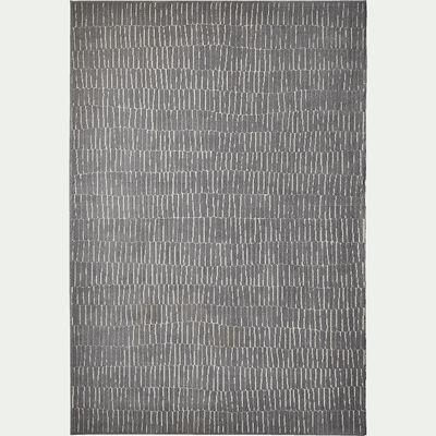 Tapis à motifs - gris 120x170cm-Basile