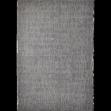 Tapis gris à motifs blancs 120x170cm-Basile