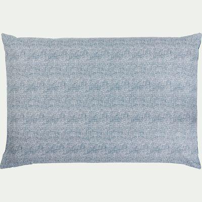 Lot de 2 taies oreiller en coton - bleu figuerolles 50x70cm-CANIS