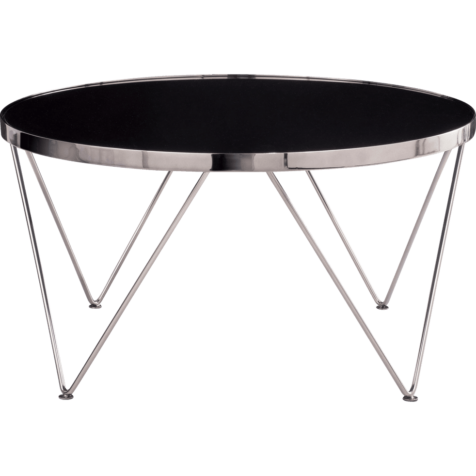 table basse ronde en m tal avec plateau miroir acosta. Black Bedroom Furniture Sets. Home Design Ideas