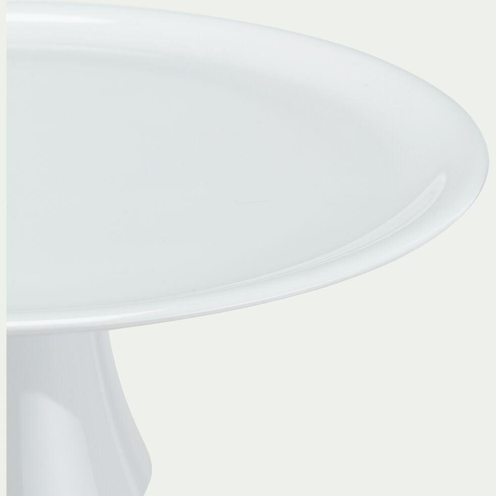 Plat à tarte en porcelaine D30,5cm - blanc-AZE
