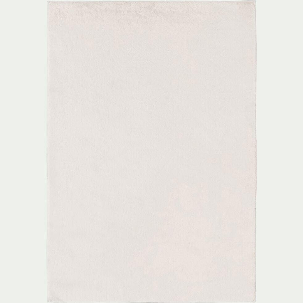 Tapis imitation fourrure - blanc ventoux 150x200cm-ROBIN