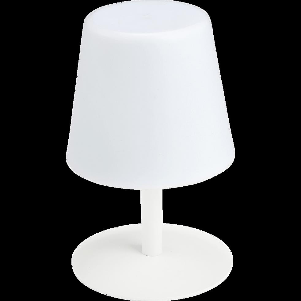 Lampe Nomade En H26cm Table Avec Pied Métal Mugel Blanc De uTclK13FJ