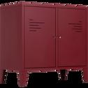 Commode 2 portes en acier Rouge sumac-LOFTER