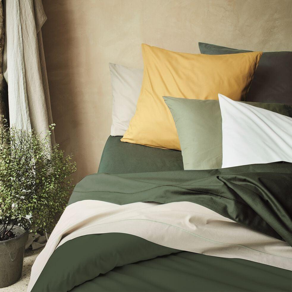 Housse de couette en coton - vert cèdre 200x200cm-CALANQUES