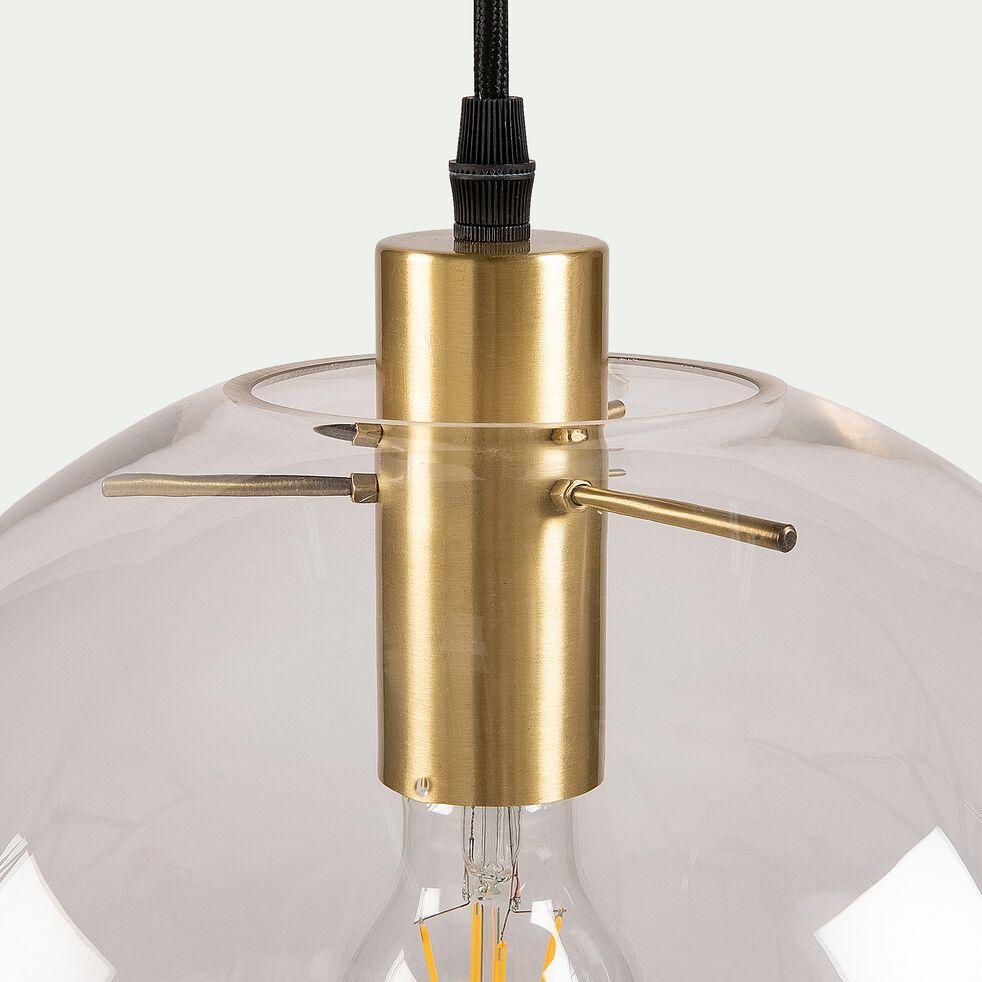 3 suspensions en métal et verre - H130cm-CYRANO
