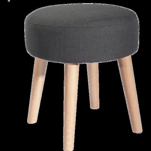 pouf en tissu motifs plume poufs et repose pieds alinea. Black Bedroom Furniture Sets. Home Design Ideas