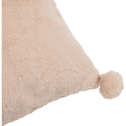 Coussin rose argile 40x40cm avec pompons pour enfant-ISABY