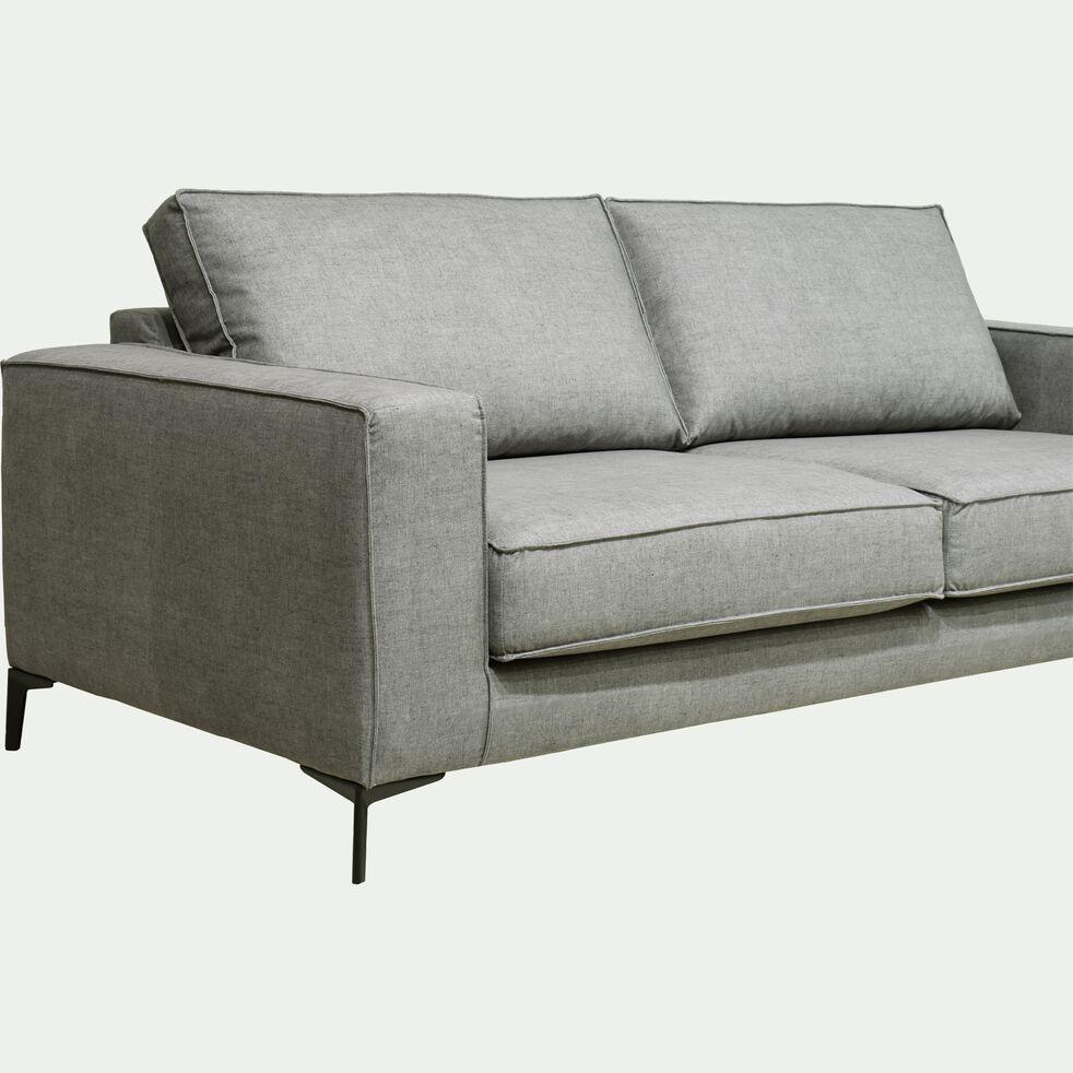 Canapé fixe 3 places pieds hauts - gris borie-CALIFORNIA