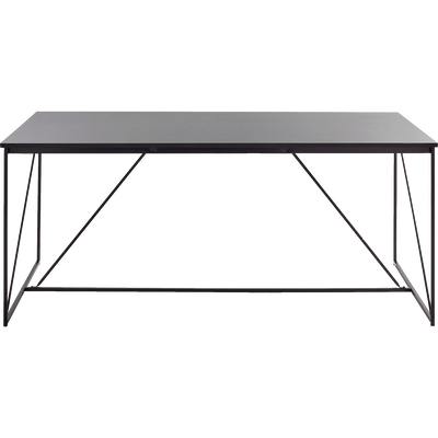 Table de repas rectangulaire effet métal - 10 places-MARCEL