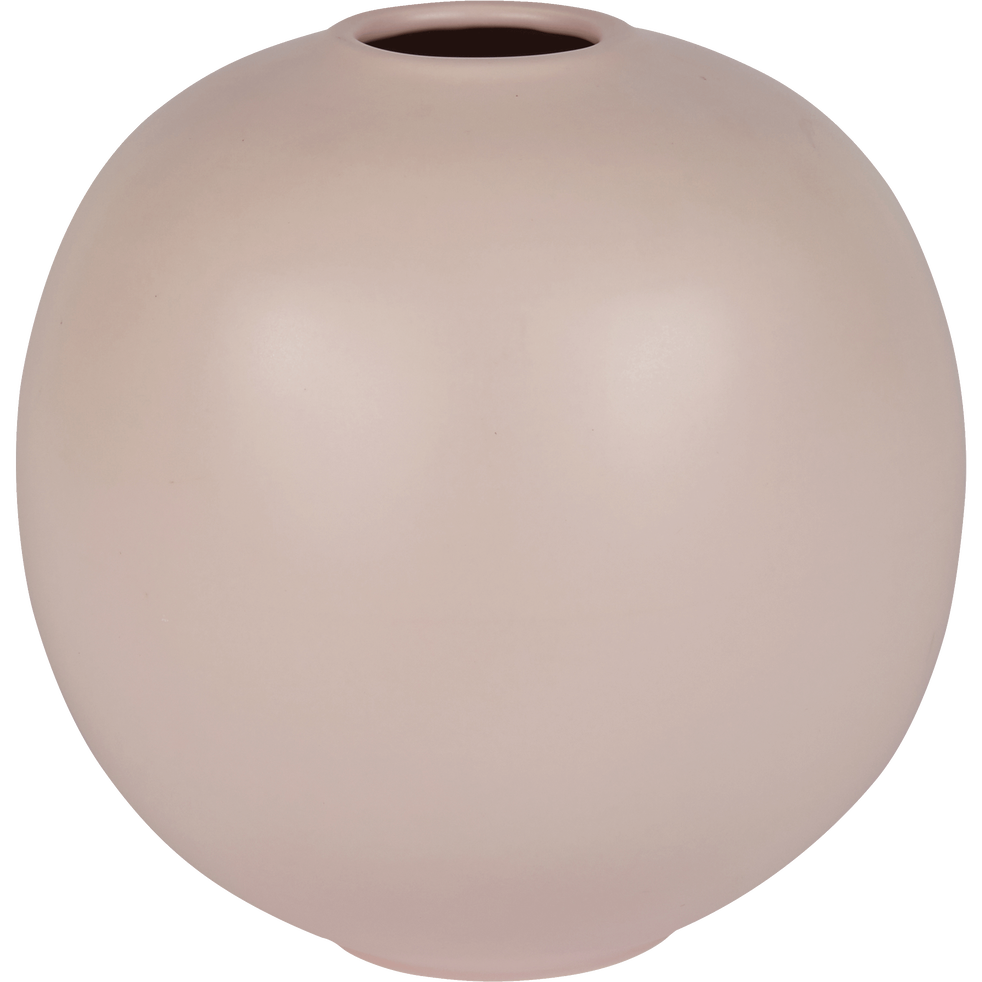 Vase en céramique rose D25xH27cm-BALA