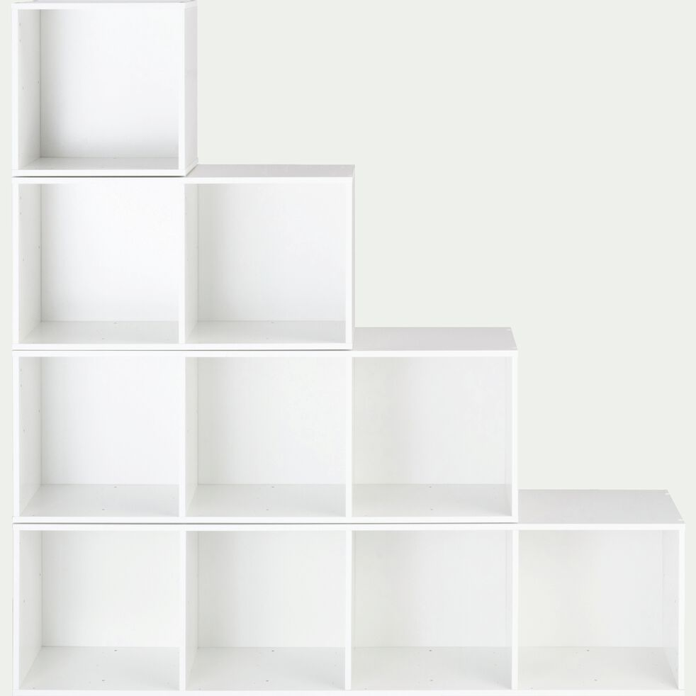 Structure 2 cases en bois H68,8cm - blanc-Zac