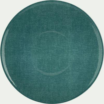 Assiette plate en faïence bleue D27cm-SAFIA