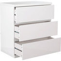 Bloc 3 tiroirs blanc-LORENA