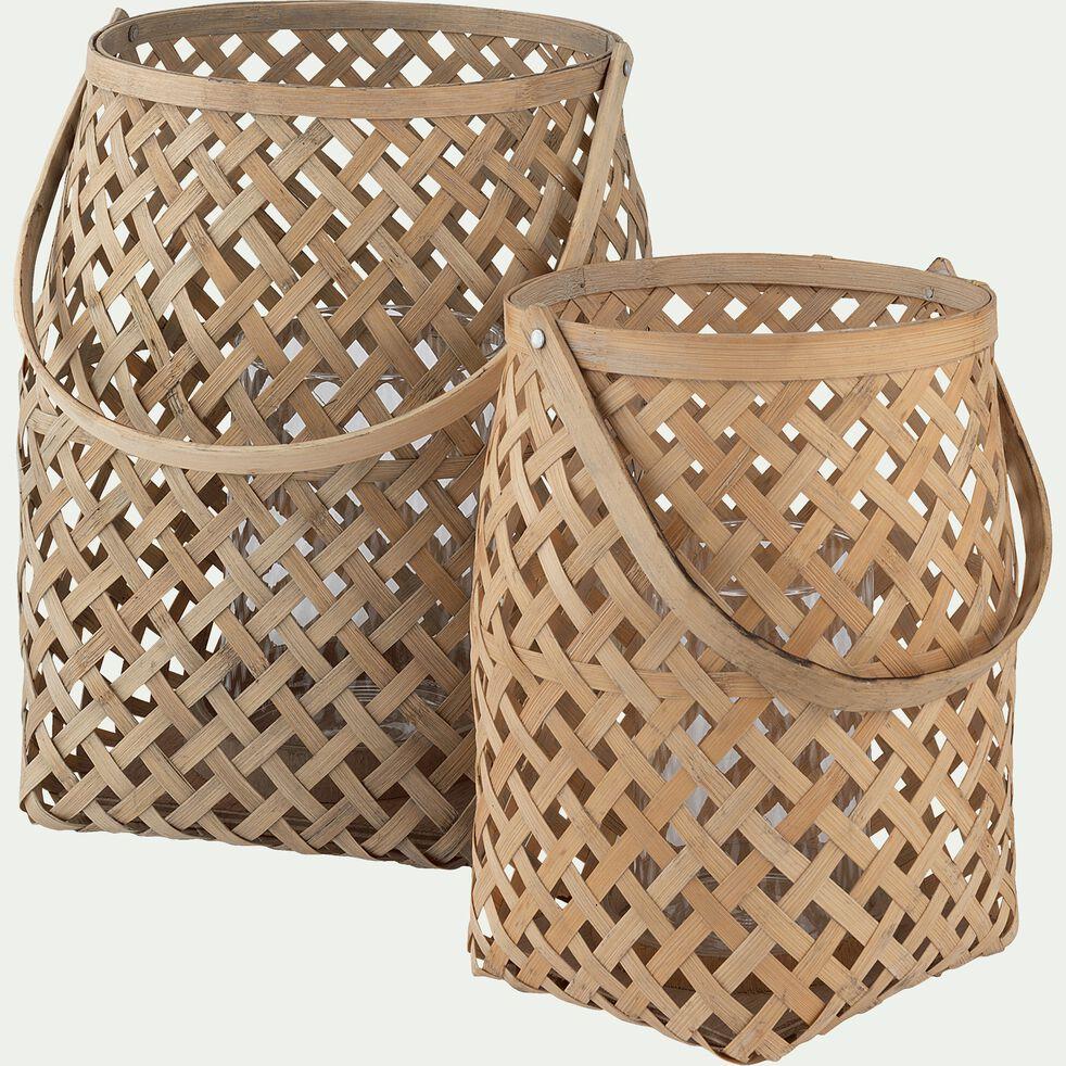 Lanterne bambou naturel D22xH30cm-BOHOL