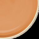 Assiette à dessert bicolore en faïence orange D20cm-CANOPE