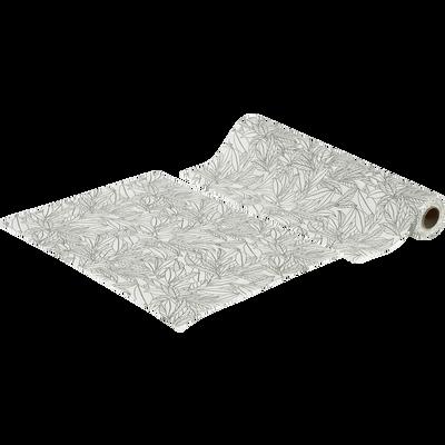 30 sets de table détachables en intissé blanc motif laurier-LAURIER