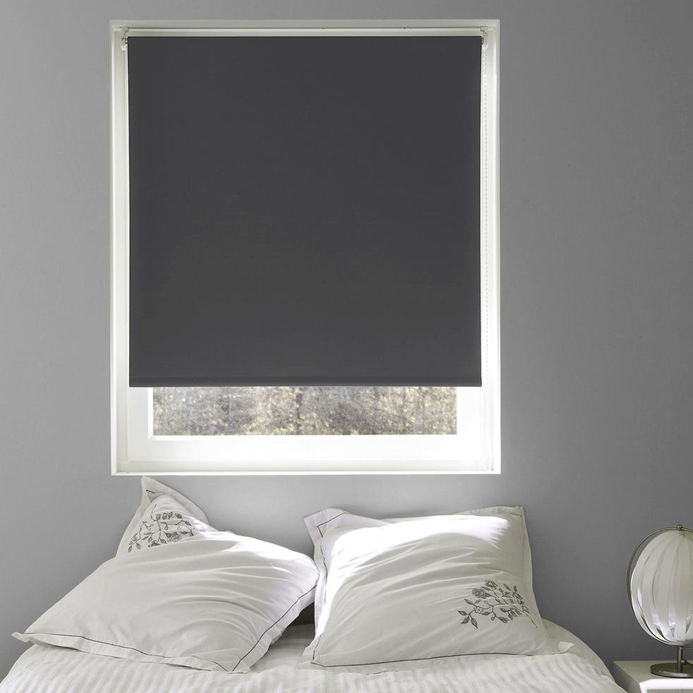 Store enrouleur occultant gris clair 125x190cm-OCCULTANT